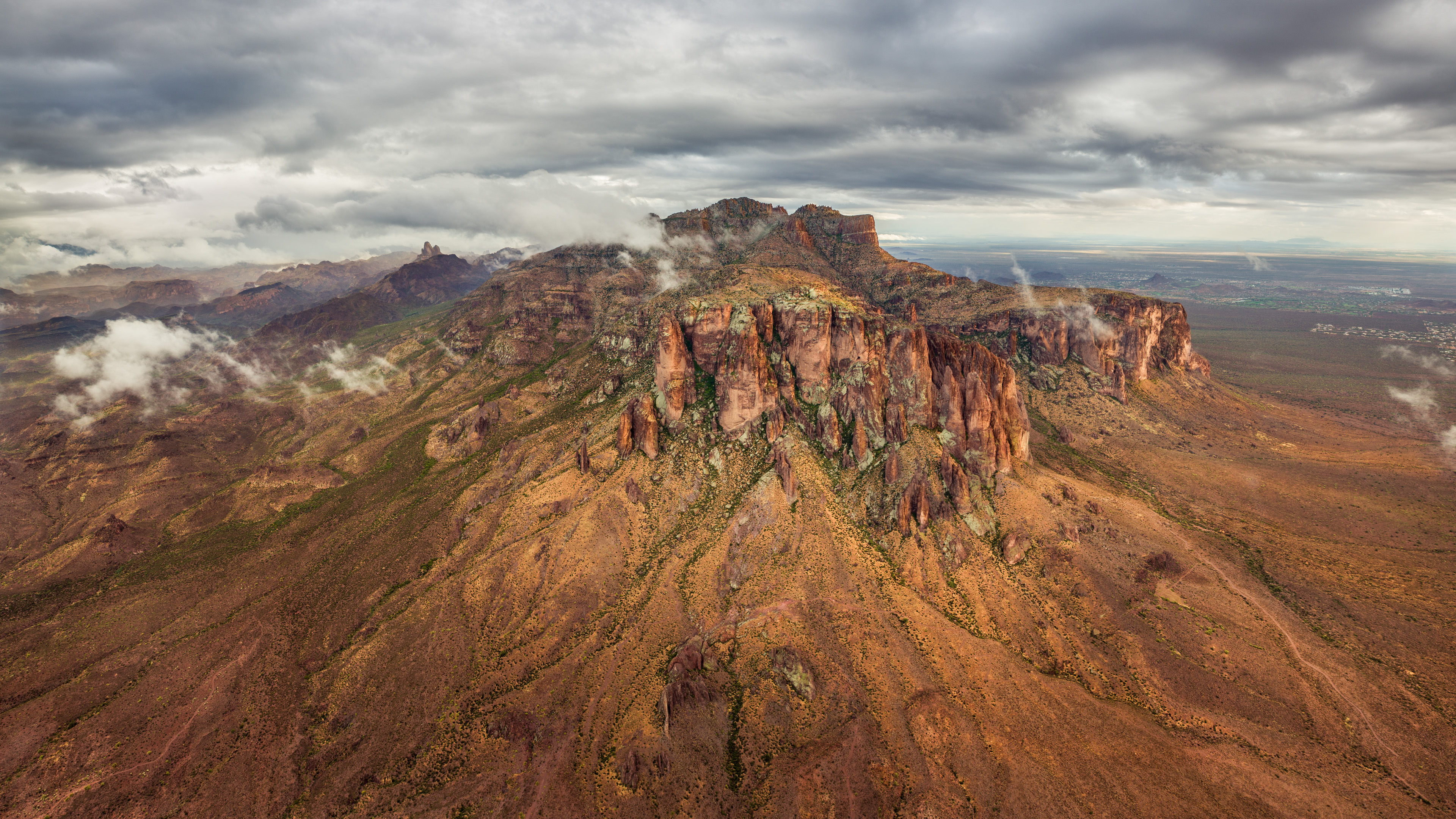 Superstition Mountains Aerial Photo