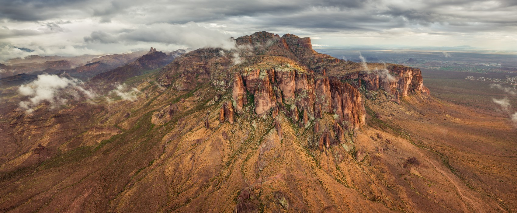 Superstition Mountains After Storm